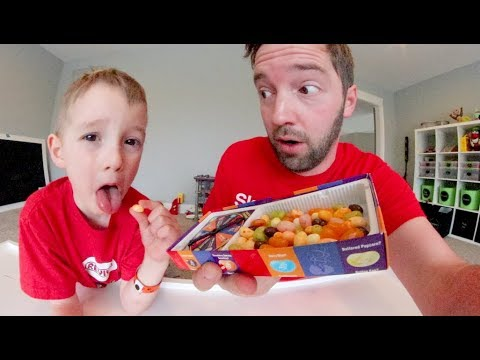 FATHER SON PLAY BEAN BOOZLED! / Jelly Bean Taste Test!