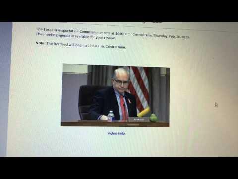 Texas Transportation Commission 2-26-15