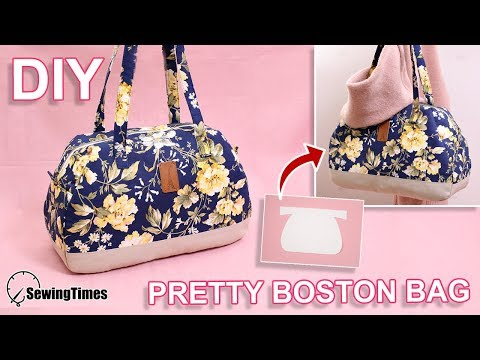 DIY PRETTY BOSTON BAG | large capacity handbag tutorial & pattern [sewingtimes]