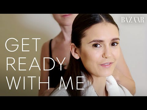 Nina Dobrev Talks Everyday Makeup Routine & Halloween Costumes   Get Ready With Me   Harper's BAZAAR
