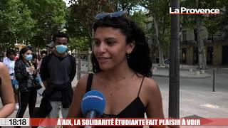 À Aix, la solidarité étudiante fait plaisir à voir