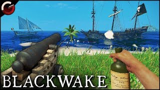 bRUTAL PIRATE BATTLE! Best Ship Combats Ever  Blackwake Gameplay