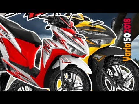 PUASPUASIN, Inilah 8 Warna Modifikasi Striping Honda New Vario 150 Facelift 2018