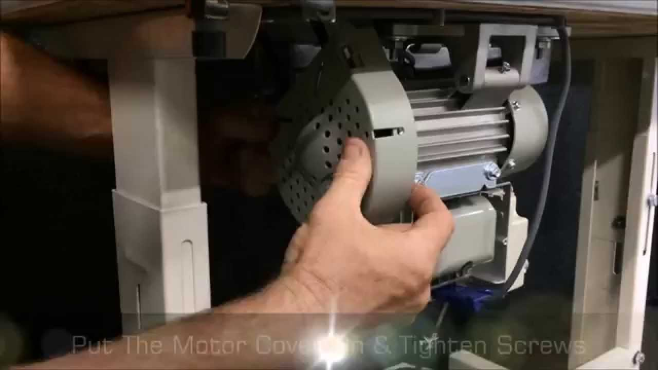 Changing a Clutch Motor to a Servo Motor by Sewing