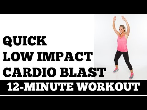 12-Minute Low Impact Cardio Blast Quick, Quiet, No Equipment, Small Space No Jumping Exercise