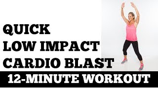 12-Minute Low Impact Cardio Blast - Quick, Quiet, No Equipment, Small Space No Jumping Exercise