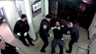 Surveillance Footage Shows Two Elkhart Police Officers Beating Handcuffed Suspect Who Spit On Them
