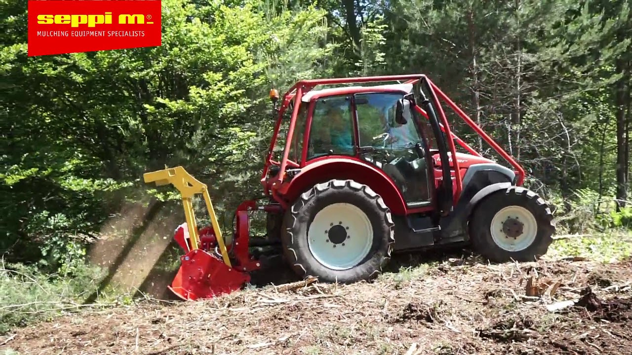 SEPPI MINIFORST is small forestry mulcher for pto-tractors