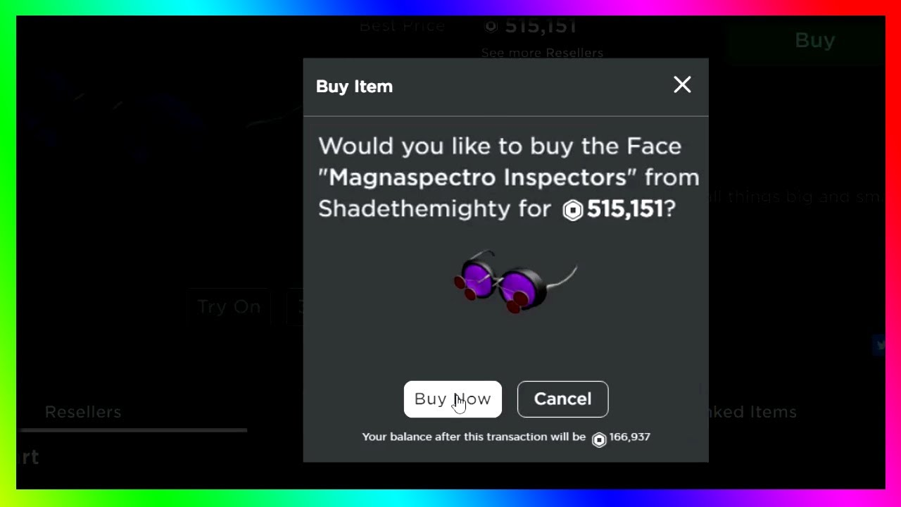 Spending 515,000 Robux on Magnaspectro Inspectors