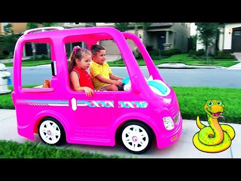 डियेना और उनकी बार्बी कार - कैम्पिंग एडवेंचर / Diana and Roma in hindi