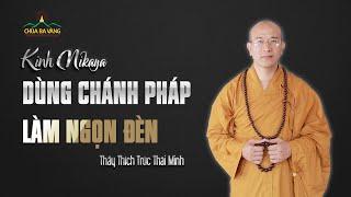 Kinh Nikaya   Dùng Chánh Pháp Làm Ngọn Đèn   Thầy Thích Trúc Thái Minh