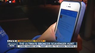 Scavenger hunt for free Broncos tickets