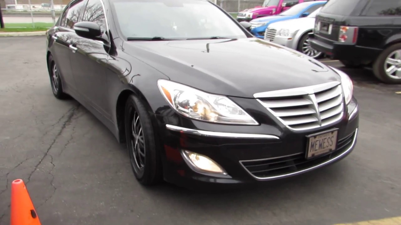 2012 Hyundai Genesis With 18 Inch Black Rims Amp Tires Youtube