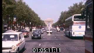 1981 Paris, Cars, Streets, Archive Footage, 1980s France