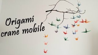 Origami - Crane Mobile Tutorial | DIY Room Decor