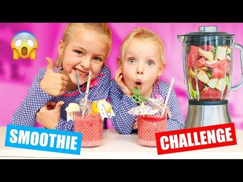 DE SMOOTHIE CHALLENGE!! [Een Lekkere Mix Of Is Het Niks?] ♥DeZoeteZusjes♥