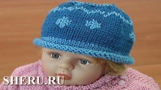 Детская шапка спицами. Урок 107