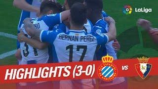 Resumen de RCD Espanyol vs Osasuna (3-0)