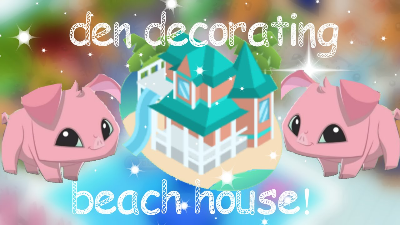 Animal Jam Den Decorating A Beach House With The New Pig Items