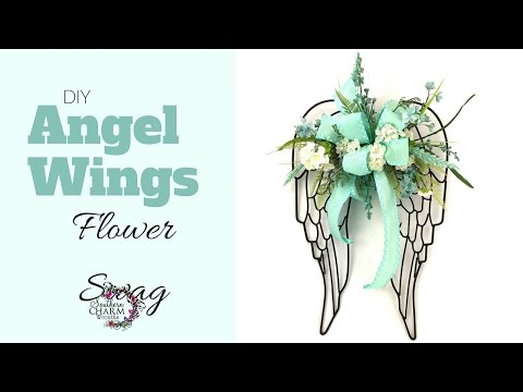DIY Angel Wings Flower Swag
