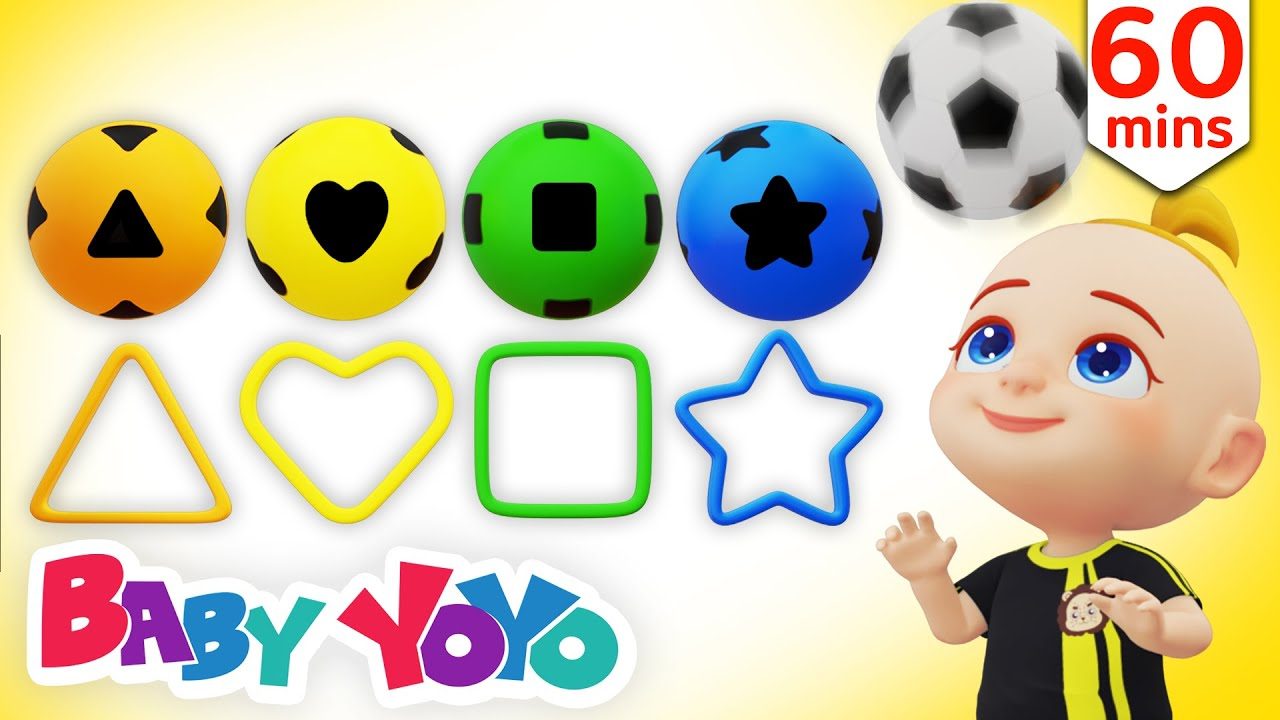 The Colors Song (Color Football) + more nursery rhymes & Kids songs - Baby yoyo