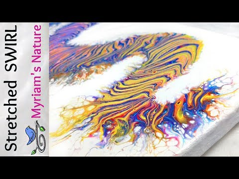 41]  STRETCHING a Dirty Pour SWIRL even further!  Tips & more -  Fluid Acrylic painting
