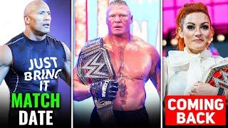 BAD NEWS Brock Lesnar Return The Rock 2021 Match Date Becky Lynch SOON Undertaker Akshay Kumar