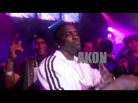 "Akon and Ya Boy Performing ""Lock Down"" Live"