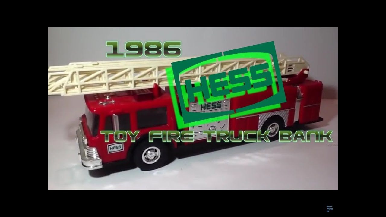 video review of the hess toy truck 1986 hess toy fire. Black Bedroom Furniture Sets. Home Design Ideas