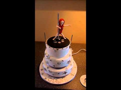 Pole Dancer Birthday Cake Youtube