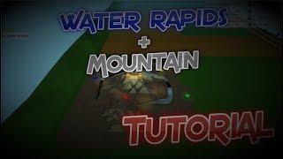 Roblox Cómo Hacer Buenos Rápidos de Agua + Paisaje + Buena Montaña - Parque Temático Tycoon Tutorial