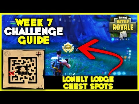 Retail Row Treasure Map + Lonely Lodge Chest Spots | Week 7 Challenges - Fortnite Battle Royale