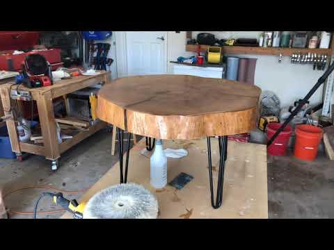 Table top epoxy slab finish