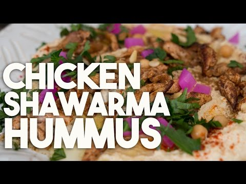 Chicken Shawarma Hummus Crowd pleasing dip
