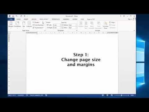 How to create a Thank You card in MS-Word - YouTube