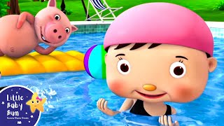 Swimming Song | Nursery Rhymes | Original Song by LittleBabyBum
