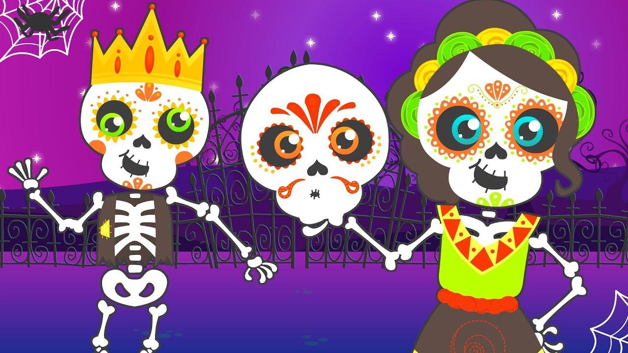 Canción De Halloween Los Esqueletos Chumbala Cachumbala Las Calaveras Youtube