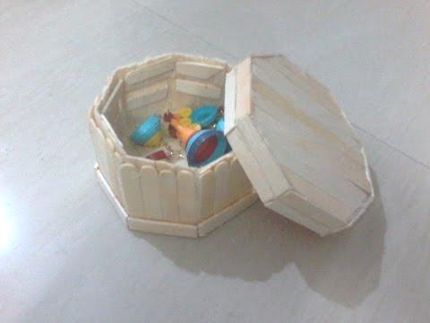 DIY: How to make jewellery box using ice cream sticks