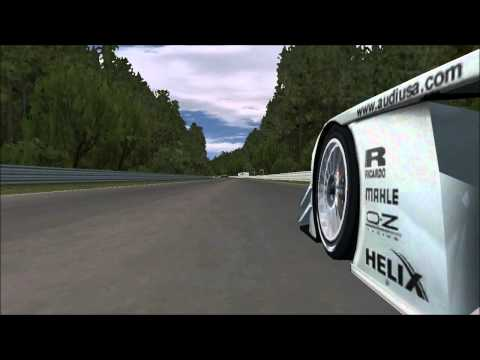 Rfactor Audi R8 LMP in hockenheim ring