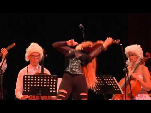 SILENZIUM Старинные парики и Черный латекс,(ancient wigs and black latex)SexViolins Live 2013