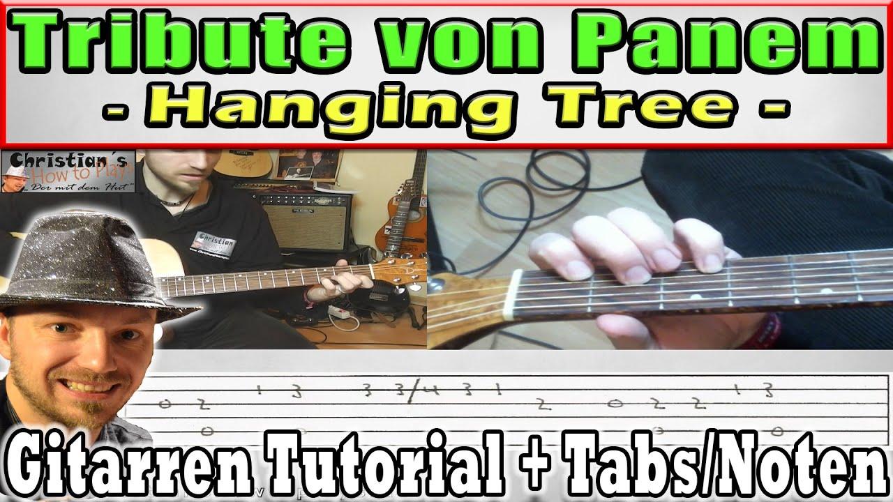 """☆HANGING TREE """"Gesangs Melo """" Gitarren Tutorial für Anfänger leicht erklärt TABS Video Lesson"""