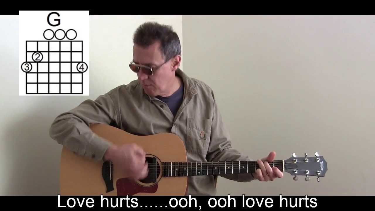Love Hurts Cover With Lyricschords To Play Sing Along P26 Youtube