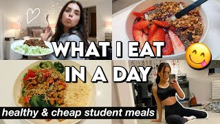 WHAT I EAT IN A DAY AS A MEDICAL SCHOOL STUDENT | healthy, easy & cheap student meals on a budget!!!