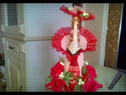 ну ОООЧЕНЬ КРАСИВОЕ оформление шампанского на 8 марта и 23 февраля
