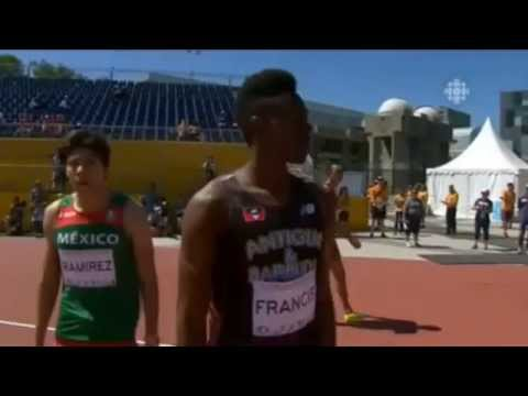 Men's 200m Heat 1 at Pan American     Games CAN 2015