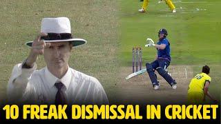 Top 10 Freak Dismissal in Cricket   Simbly Chumma