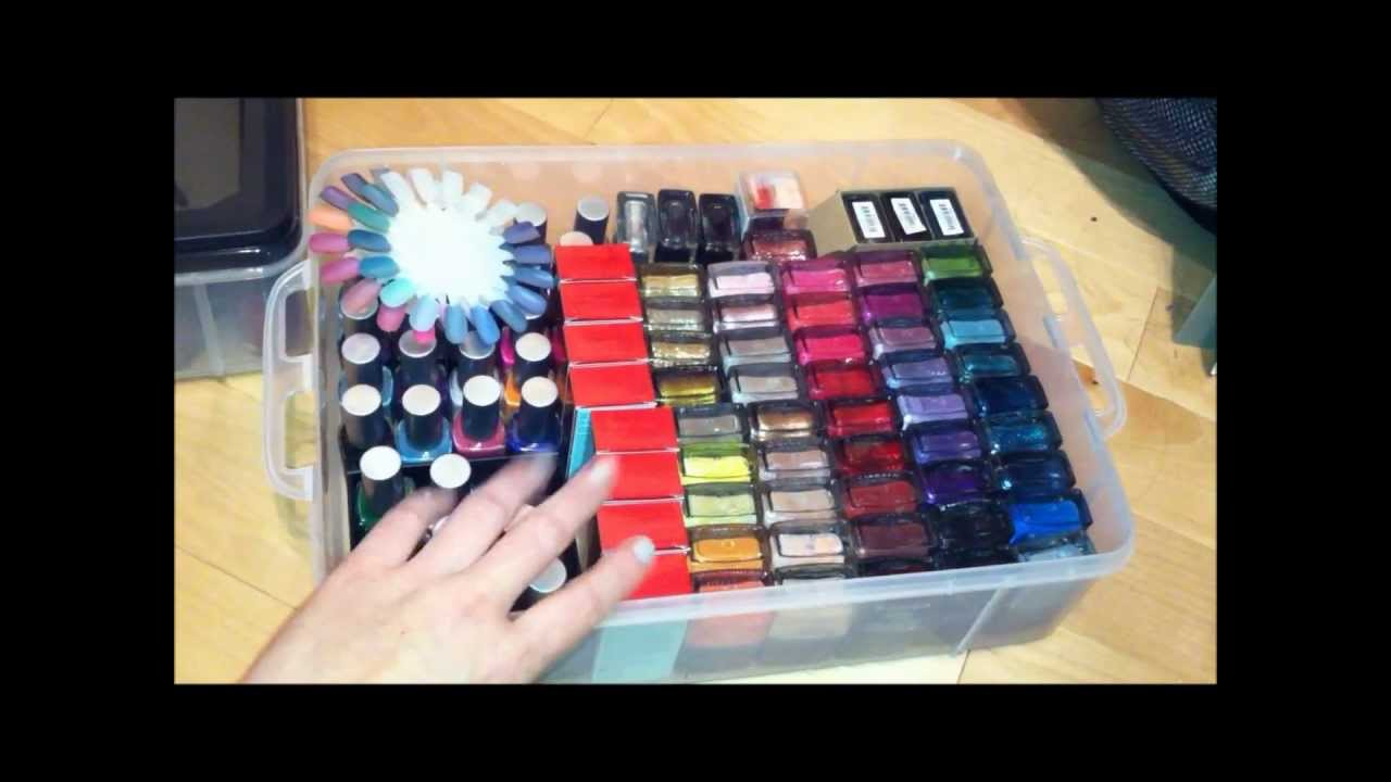 & NAILS - nail polish storage idea from target - YouTube