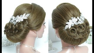 Beautiful Hairstyles with puff: Easy Wedding Hairstyle