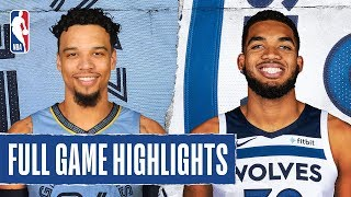 GRIZZLIES at TIMBERWOLVES | FULL GAME HIGHLIGHTS | December 1, 2019