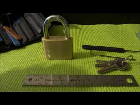 (233) Yale YE1 padlock Picked, Rocked & Zipped Open (and view of Congo)
